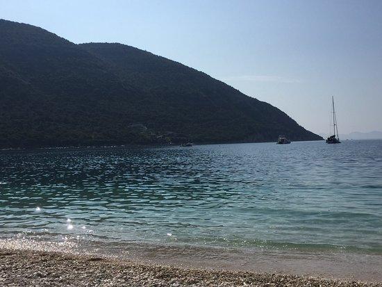 The UNIQUE beach in front of Marilion....