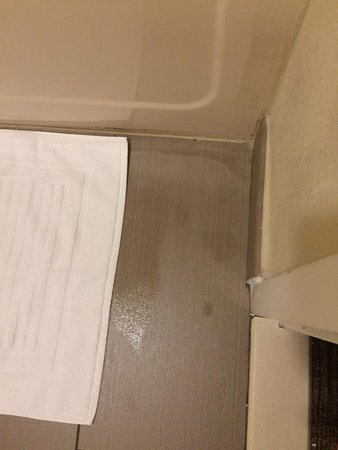 Muskogee, Oklahoma: Water on floor from shower