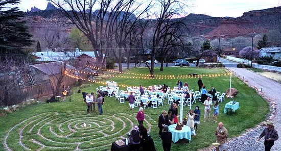 Rockville, UT: Our spacious grounds, with walking labyrinth, great for gatherings.