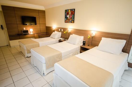 Hotel Jangadeiro: Quartos com capacidade para 3 pessoas