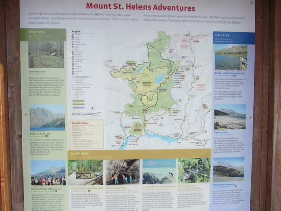 Johnston Ridge Observatory: Mount St. Helens Adventures Map