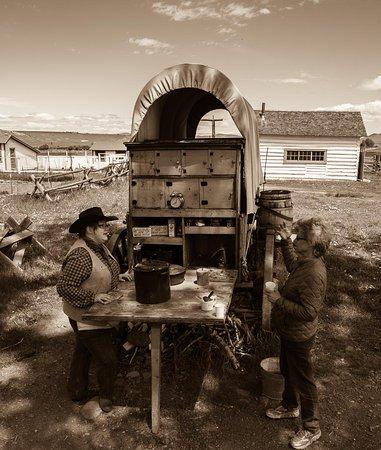 Deer Lodge, MT: Cowboy coffee at the chuck wagon