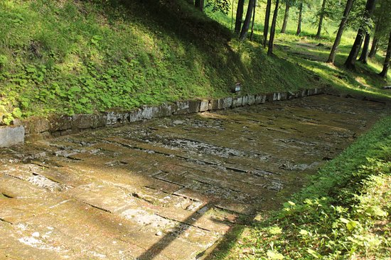 Hunedoara County, Rumänien: Sarmizegetusa Regia - part of the old paved road