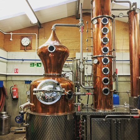 Silent Pool Distillery: Can produce 400 bottles of Gin at a time.