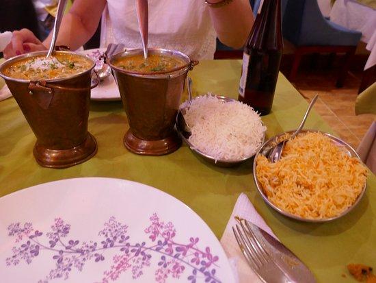 Ganesh, Saigon, vegetable biriani and coconut vegetable curries