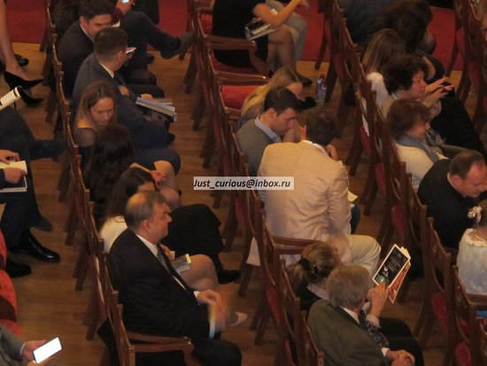 Bolshoi director Urin and family in stalls