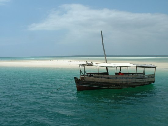 Kwale, Kenya: DHOW AT SAND BANK
