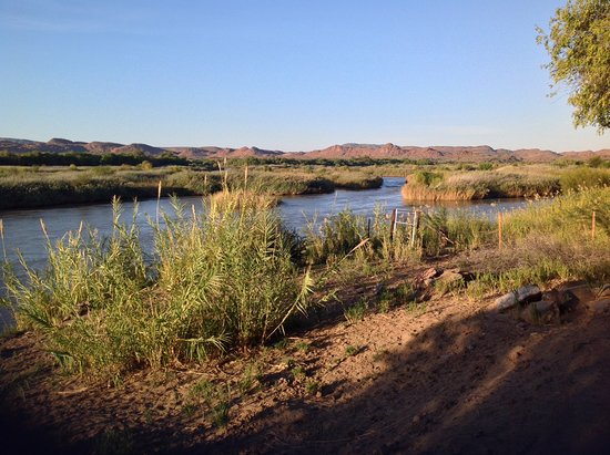 Kakamas, Südafrika: View of the Orange River from our campsite.