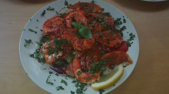 Pizzeria U Synia: Krewetki w sosie pomidorowym