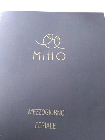 Castel Mella, Italia: Fronte del menu e foglio per ordine