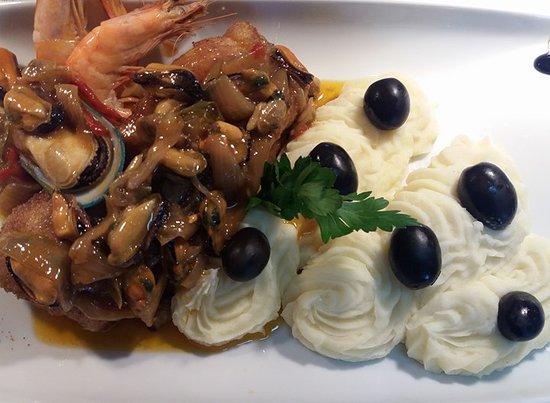 Santa Comba Dao, Portugal: prato de peixe
