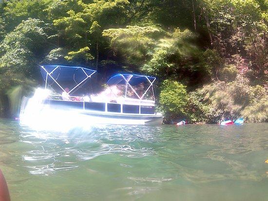 Jocassee Keowee Rentals LLC: One of Stephanie's boats.