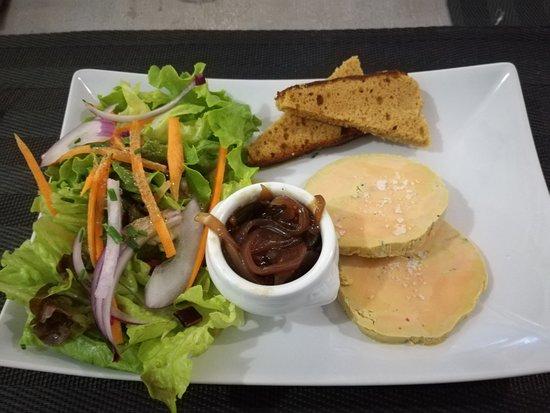 Le Nego: Le foie gras et confit d'oignons.