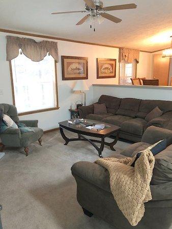 Kabetogama, MN: Cottage-at-Ash-River living room