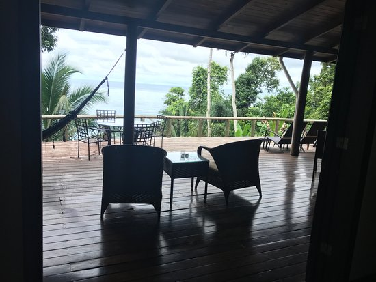 Bosque del Cabo Rainforest Lodge: View from the second bedroom in Casa Blanca