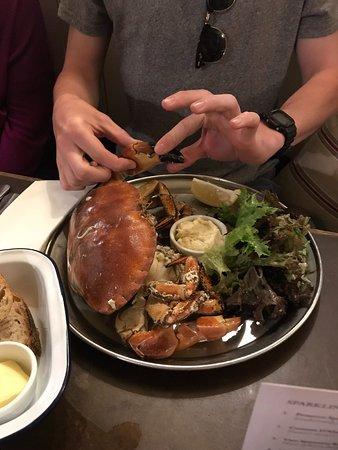 Kingsand, UK: Delicious fresh crab