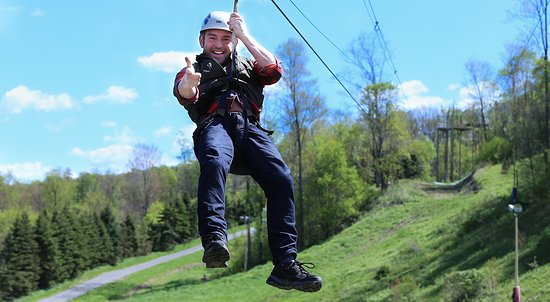 Laurel Highlands, PA: Soar Across the Trees Zip Lining at Nemacolin Woodlands Resort