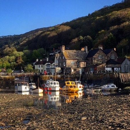 Porlock Weir, UK: Ancient Harbour with Locanda in the background