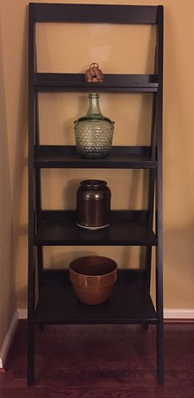 Two pieces that I purchased at Salamander are on the bottom two shelves in this photo.
