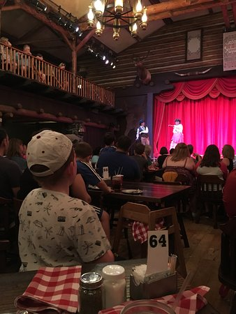 The Hoop Dee Doo Al Revue View Of Stage From Table