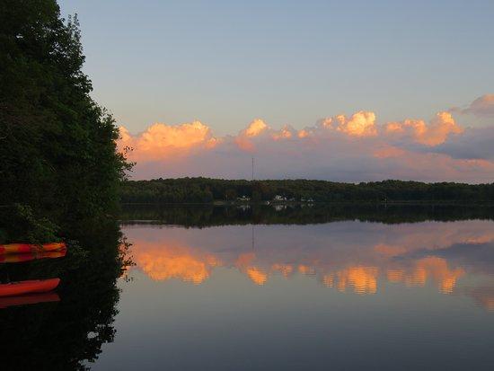 Cornell, WI: Chippewa River sunset