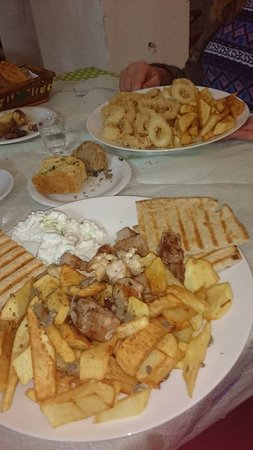 Zakros, Greece: menu