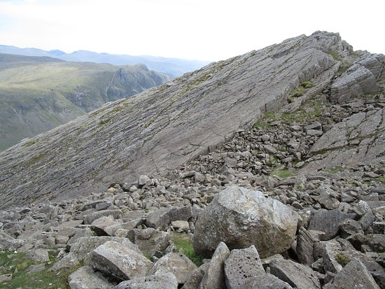Great Langdale, UK: The Great Slab on Bowfell