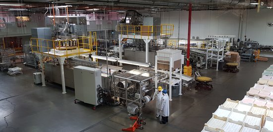 Jelly Belly Factory Tour: The factory floor