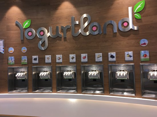 Emirate of Sharjah, Emirados Árabes: Yogurtland at Zero6: self-serve