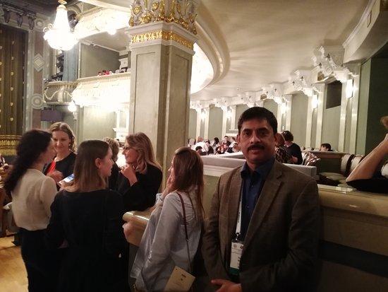 Bolshoi Theatre: Author inside Bolshoi theater