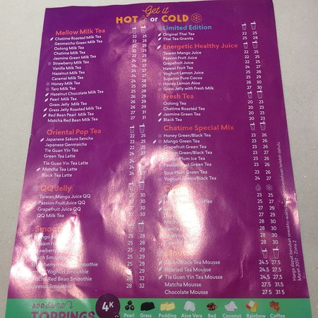 quotes of the day Picture of Chatime Beachwalk Shopping