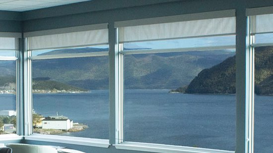 Woody Point, Canada: View from the Inn-Blue Ocean Dining Room