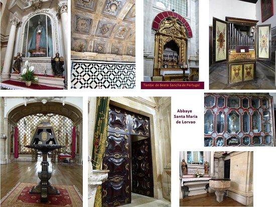 """Lorvao, Portugal: Intérieur de l""""abbaye et des trésors"""