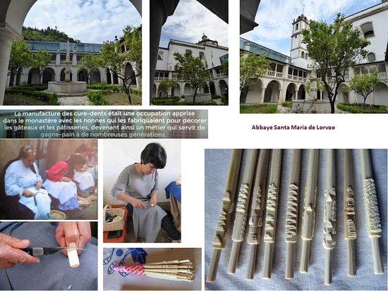 Lorvao, Portugal: Le cloître et la fabrication artisanale de cure-dents