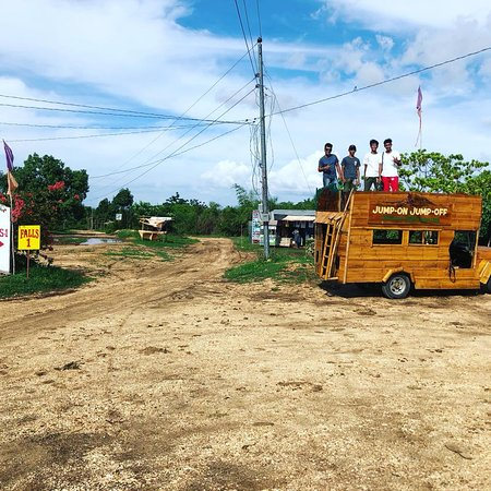 Bolinao Falls Tour with bamboo jeepney
