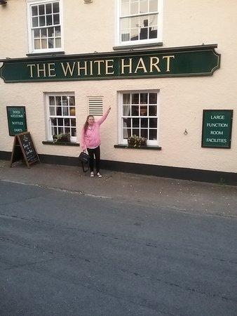 Woodbury, UK: Me stood outside pub