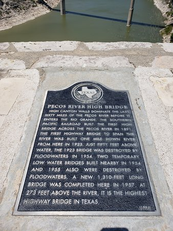 Langtry, TX: Plaque giving information about the area