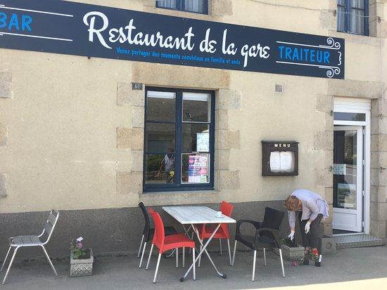 Caulnes, فرنسا: Restaurant de la Gare