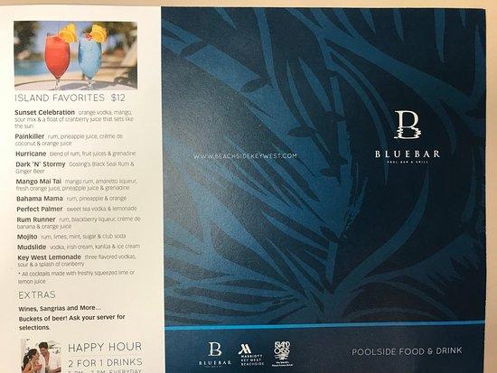 Island Favorite Drinks - Picture of Blue Bar, Key West - TripAdvisor