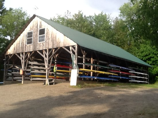 Boat barn at Craftsbury Outdoor Center