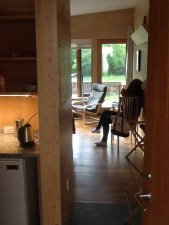 cabin interior at Craftsbury Outdoor Center