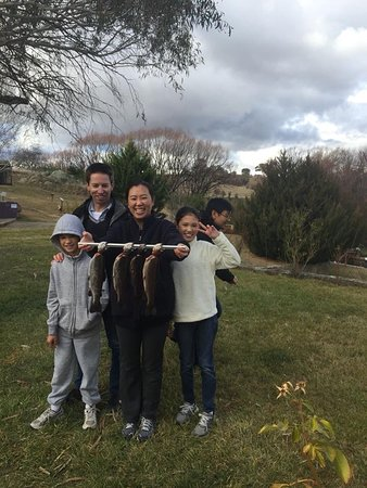 Eucumbene Trout Farm: When the snow is missing, the fishing is fun.