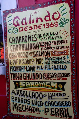Galindo: Example but more on the menu