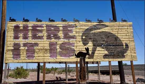"Joseph City, AZ: Vintage ""Here It Is"" Trading Post Billboard"