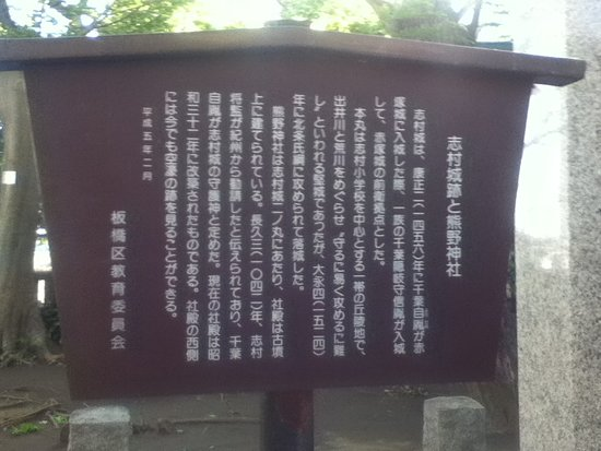 Itabashi, Japão: 説明板付近