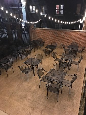 Our new outdoor patio is ready for you and your friends.