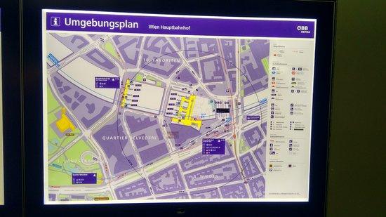 Station Map - Picture of Wien Hauptbahnhof Sud, Vienna - Tripadvisor