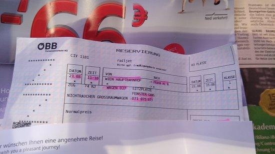 Ticket Picture Of Wien Hauptbahnhof Sud Vienna Tripadvisor