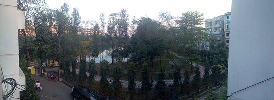 Barisal City, Bangladesch: View of Bell's Park from restaurant