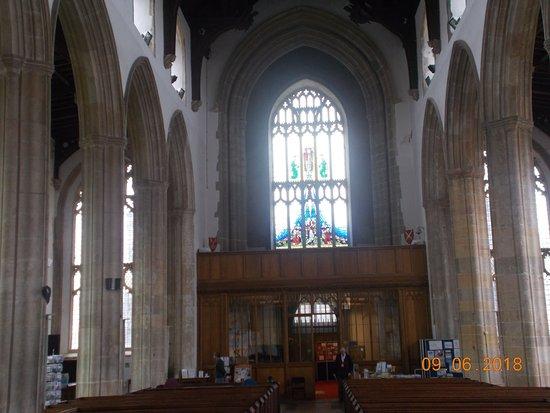 Cromer Parish Church (St Peter and St Paul): cromer parish church the illuminating glass window